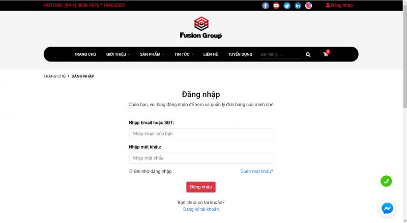 Hướng dẫn đặt hàng trên website Fusiongroup.vn 2