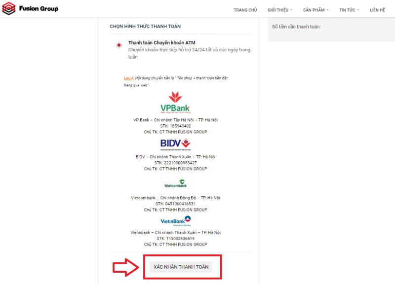 Hướng dẫn đặt hàng trên website Fusiongroup.vn 15