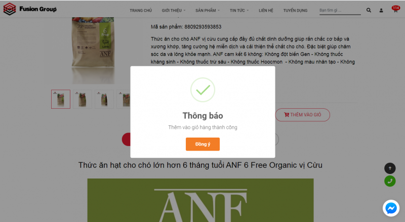 Hướng dẫn đặt hàng trên website Fusiongroup.vn 10