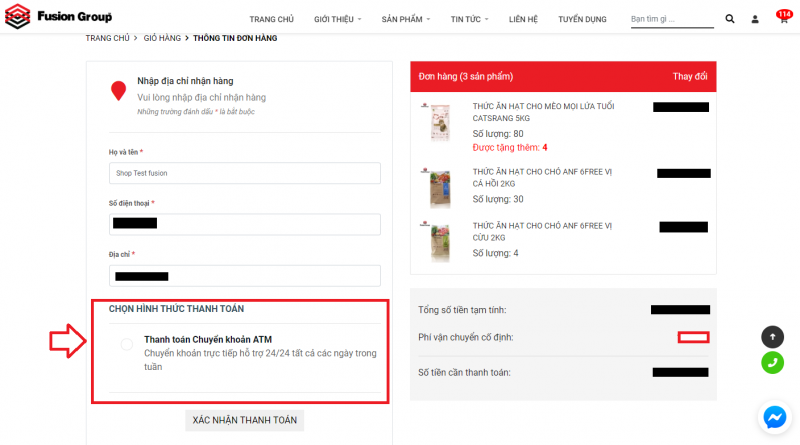 Hướng dẫn đặt hàng trên website Fusiongroup.vn 14