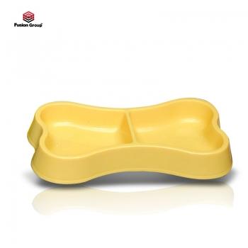 Bát ăn đôi hình xương Purmi màu vàng