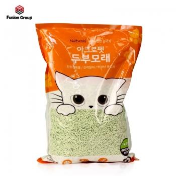 Cát vệ sinh đậu phụ siêu thấm Acropethương trà xanh (100% đậu phụ tự nhiên)