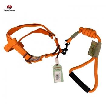 Dây dắt đai yên ngựa dành cho chó 30kg - 13mm màu cam