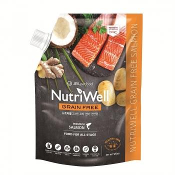 Hạt dinh dưỡng không ngũ cốc vị cá hồi Nutriwell dành cho chó mọi lứa tuổi 1.5kg