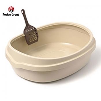 Khay vệ sinh cho mèo Purmi size  lớn - Màu kem (kèm xẻng)