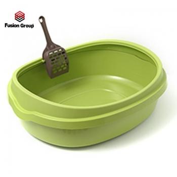 Khay vệ sinh cho mèo size lớn - Màu xanh Purmi (kèm xẻng)