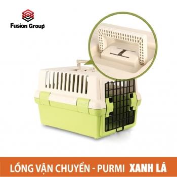 Lồng vận chuyển dành cho chó MÀU XANH Purmi (hàng nội địa Hàn Quốc)