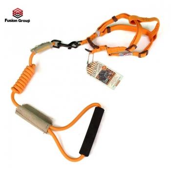 Dây dắt yếm ngực 7mm Touchdog màu cam