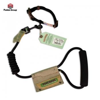 Dây dắt kèm vòng cổ màu đen Touchdog 7mm ( cho chó từ 4 kg - 13kg)