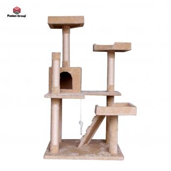 Tháp mèo màu kem - đồ chơi hữu ích dành cho mèo cưng