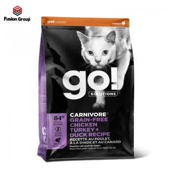 Thức ăn hạt cho mèo kết hợp vị thịt gà + gà tây + thịt vịt Go! (Nhập khẩu Canada)